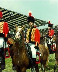 Snowdon et Isabelle Dolphijn lors de la reconstitution de la Bataille de Waterloo en 1990